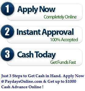 3 Steps for Payday Loans Online