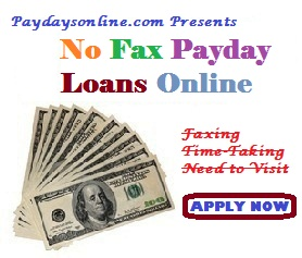 No Fax Payday Loans Online